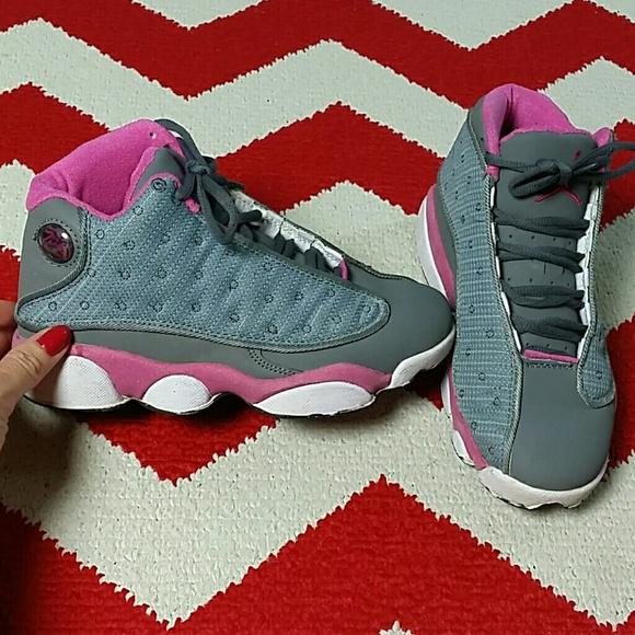 timeless design 4fce3 b6a0e Retro 13 Jordans Women's Size 6.5 Pink Gray